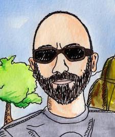 Cartoon drawing by Adam